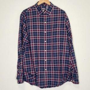Van Heusen Long Sleeve Classic Fit Mens Shirt Sz L